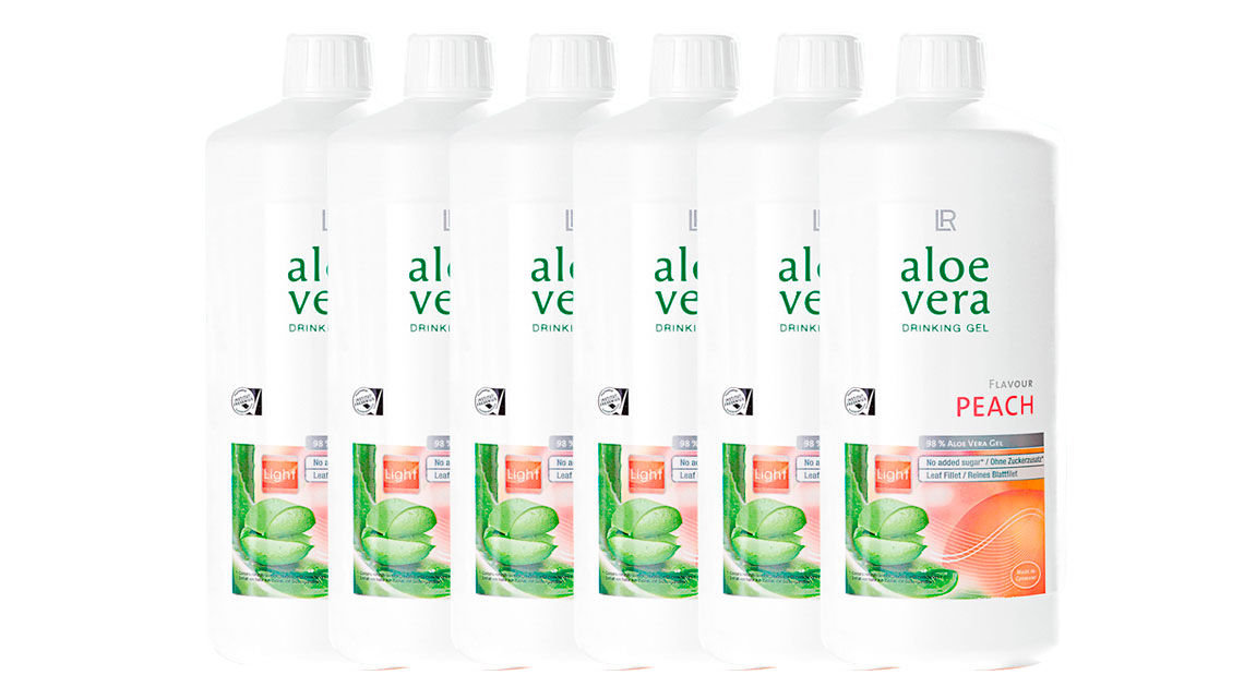 6er-Set Aloe Vera Drinking Gel Peach